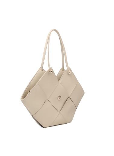 TH Bags Kadın Omuz Çantası TH-DR071800 Krem